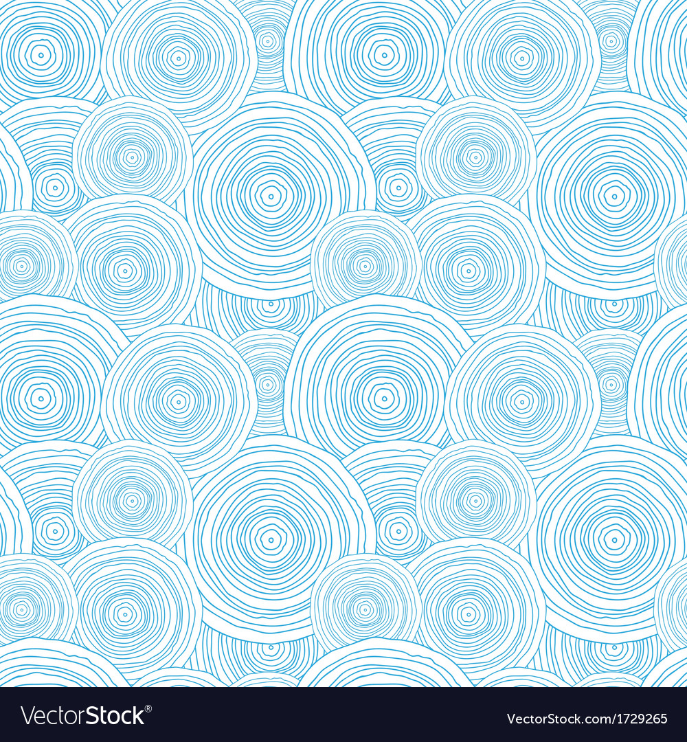 Doodle circle water texture seamless pattern