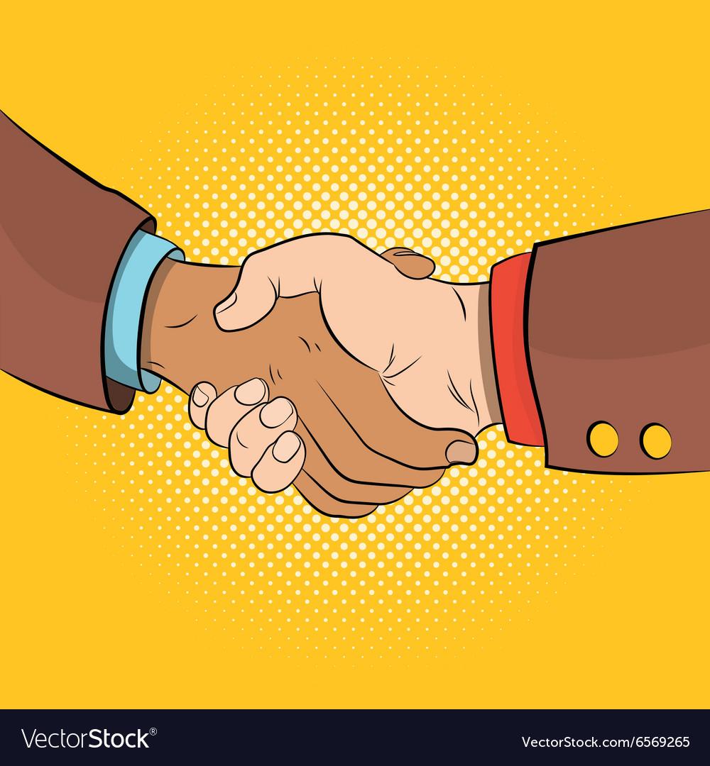 Handshake comics concept
