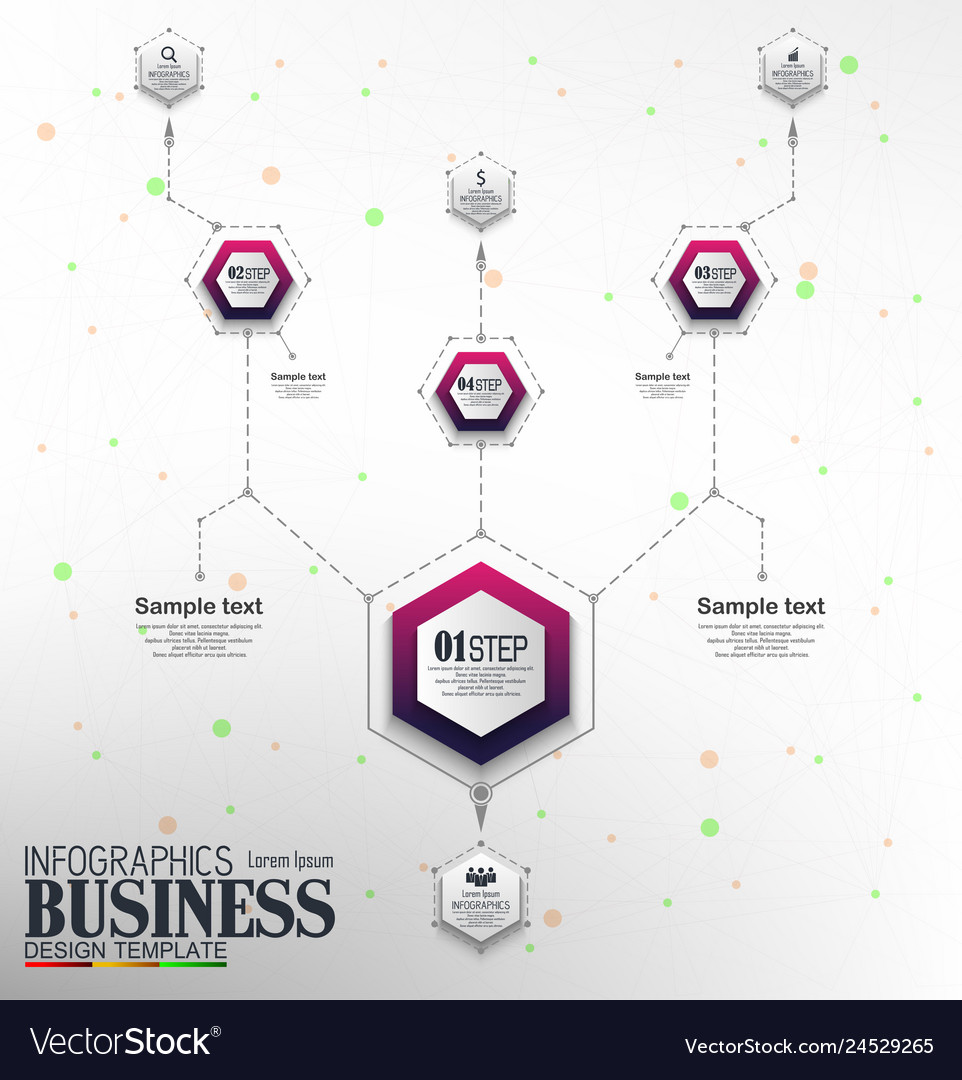 Infographics business template concept with 4 opti