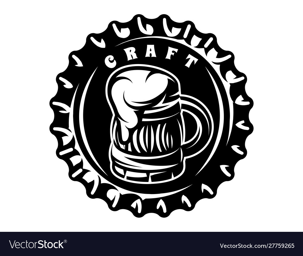 Monochrome with metal caps for beer