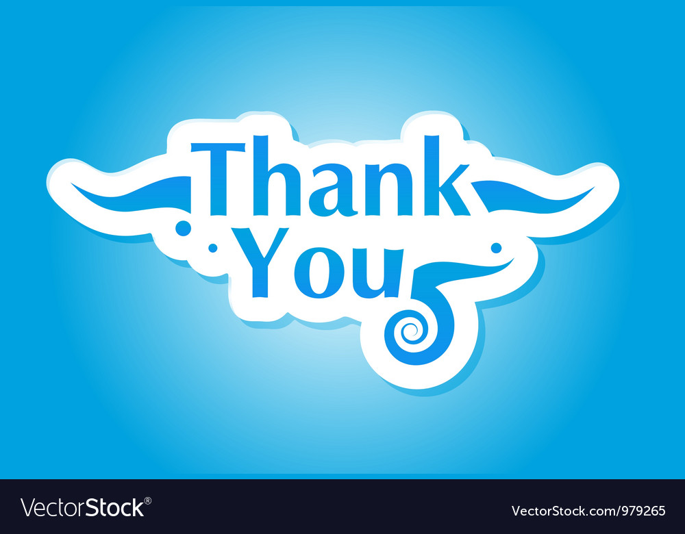 Thank you graphic vector image