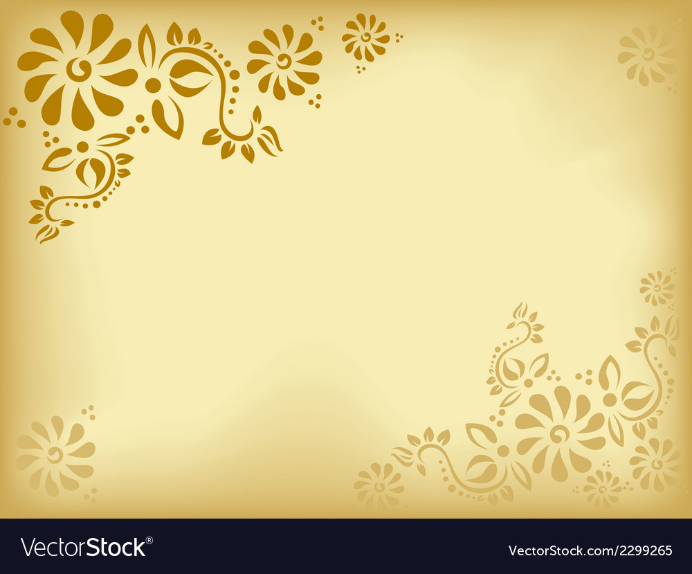 Vintage Floral Background Old Paper Royalty Free Vector