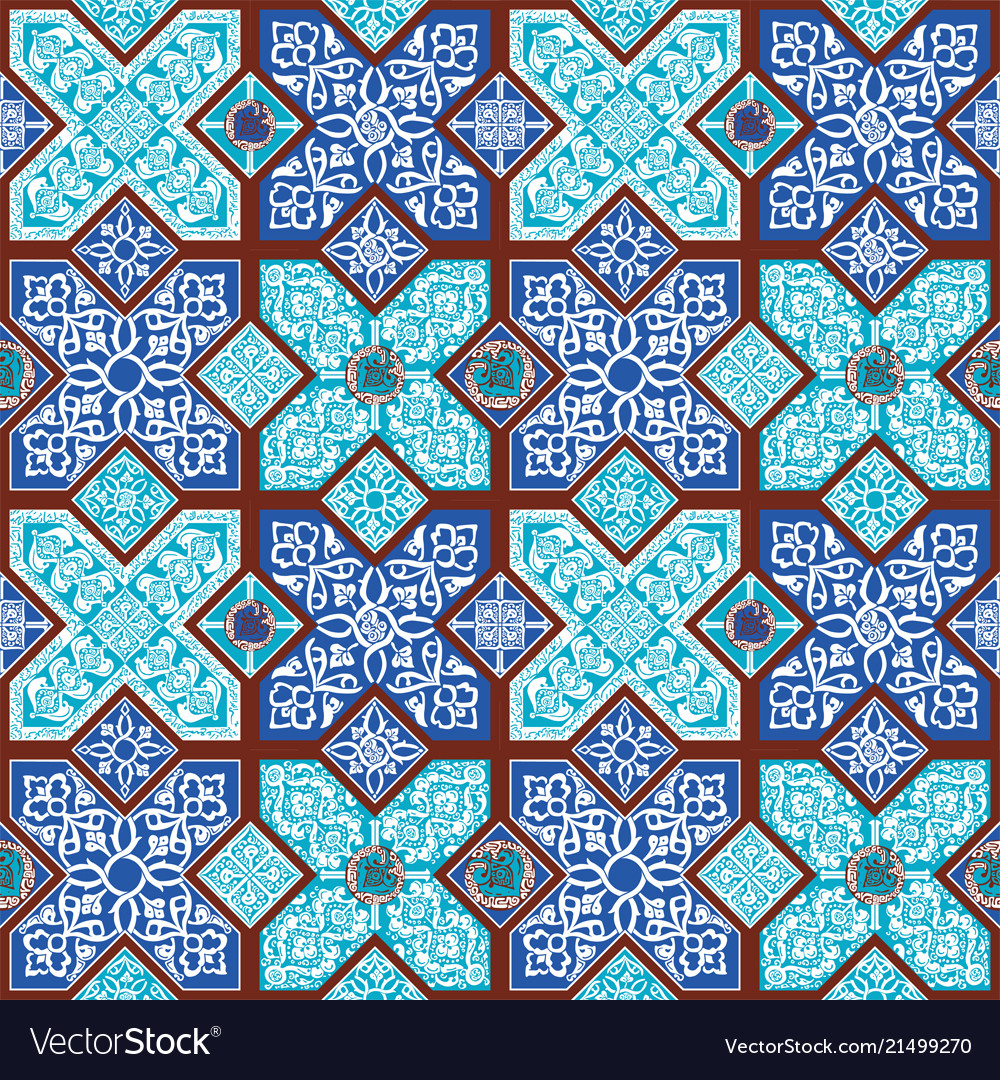 Background With Persian Patterns Royalty Free Vector Image