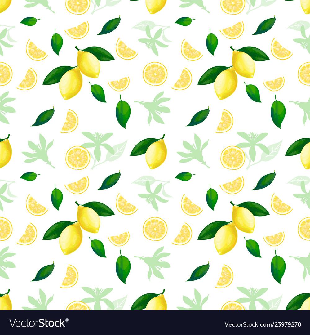Lemon seamless pattern lemons cocktail citrus