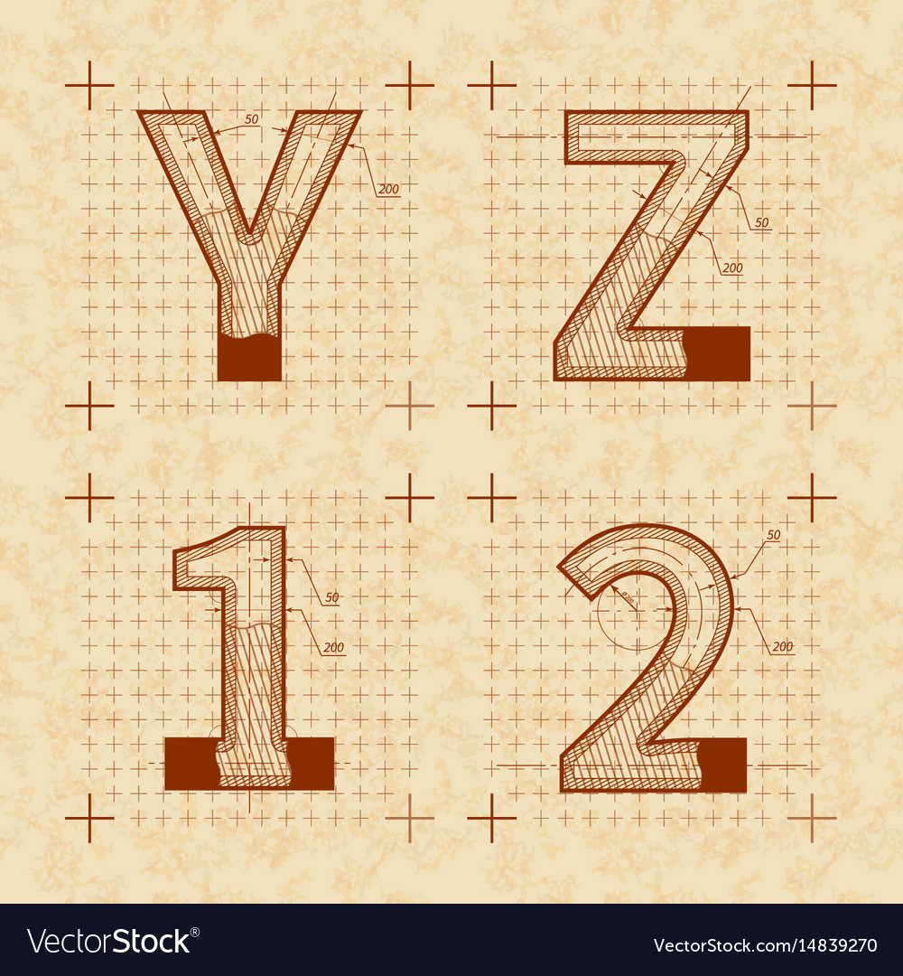 Medieval inventor sketches of y z 1 2 letters