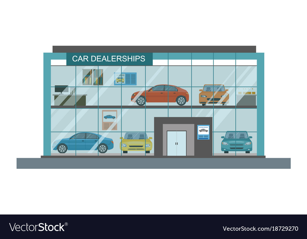 Modern Car Dealership Showroom Interior Royalty Free Vector