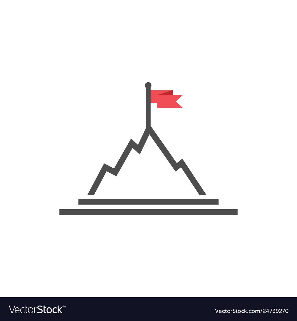 Mountain flag graphic design template isolated