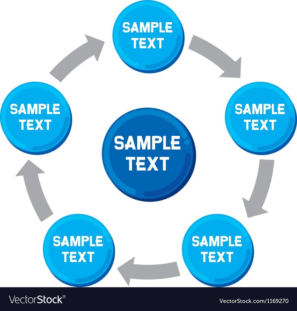 Presentation diagram business process marketing vector image ccuart Choice Image