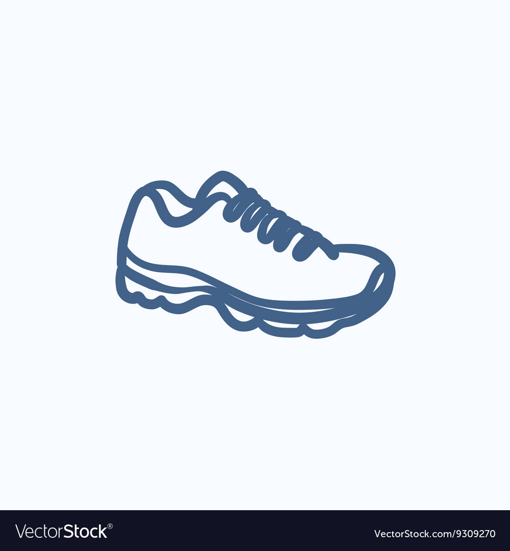 Sneaker sketch icon