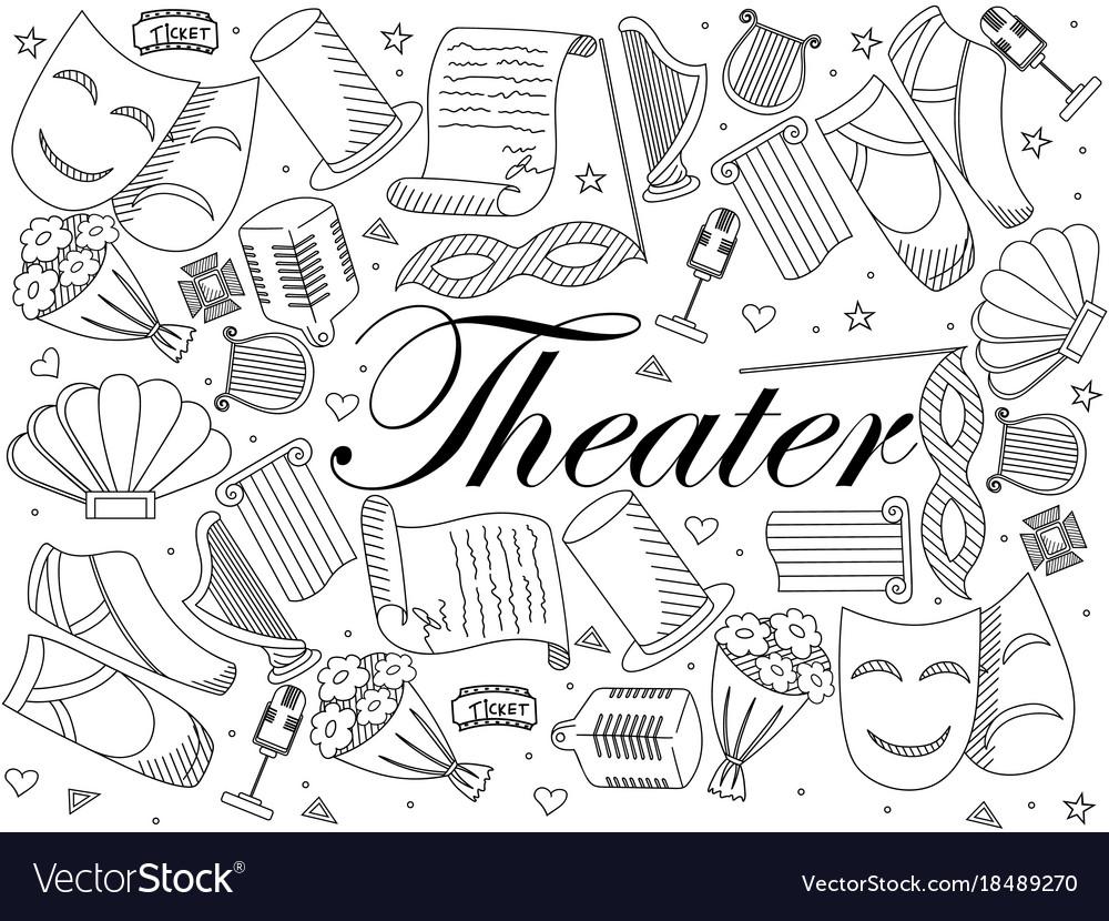Theater line art design