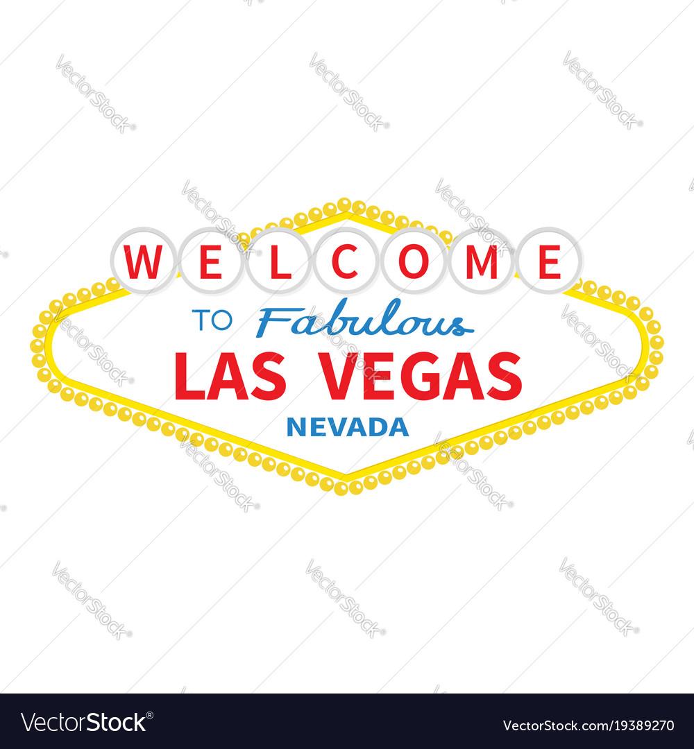welcome to las vegas sign icon classic retro vector image rh vectorstock com las vegas sign vector free download free las vegas sign vector