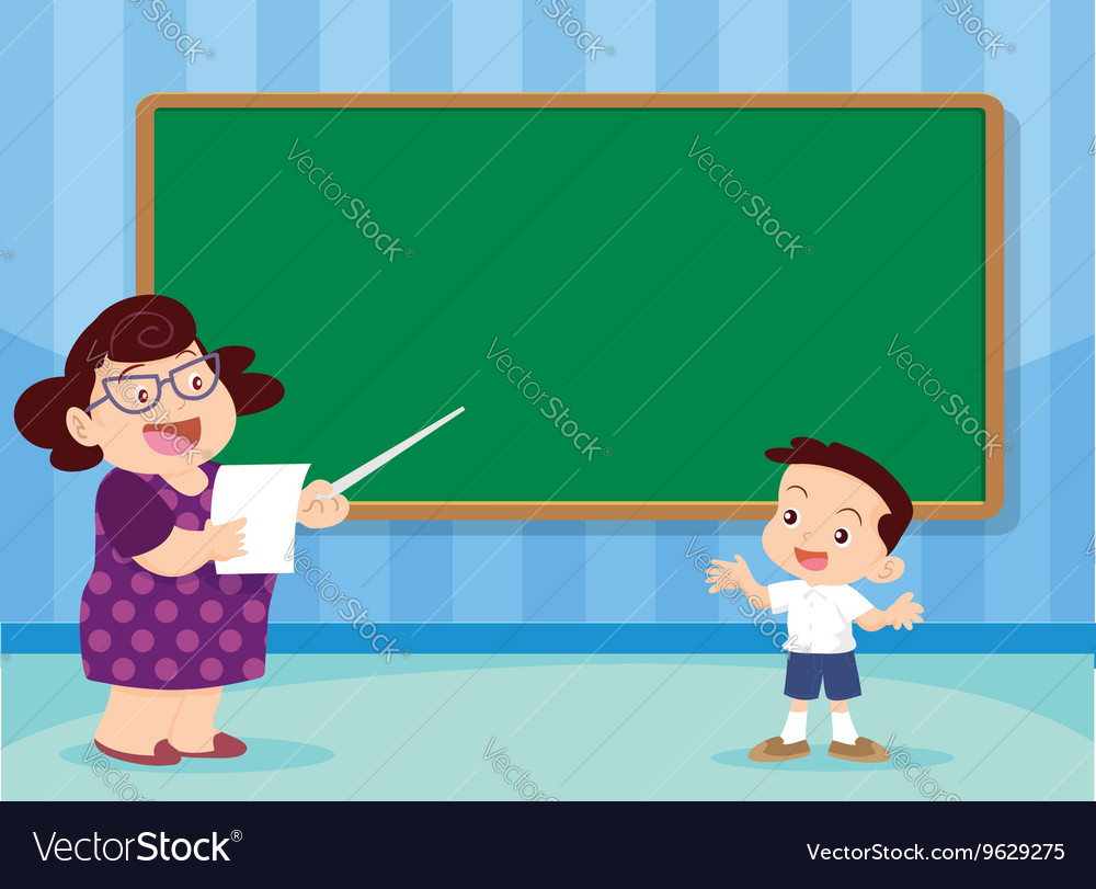 Teacher and studen vector image