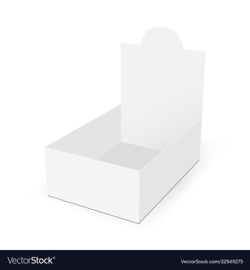 White blank cardboard display box