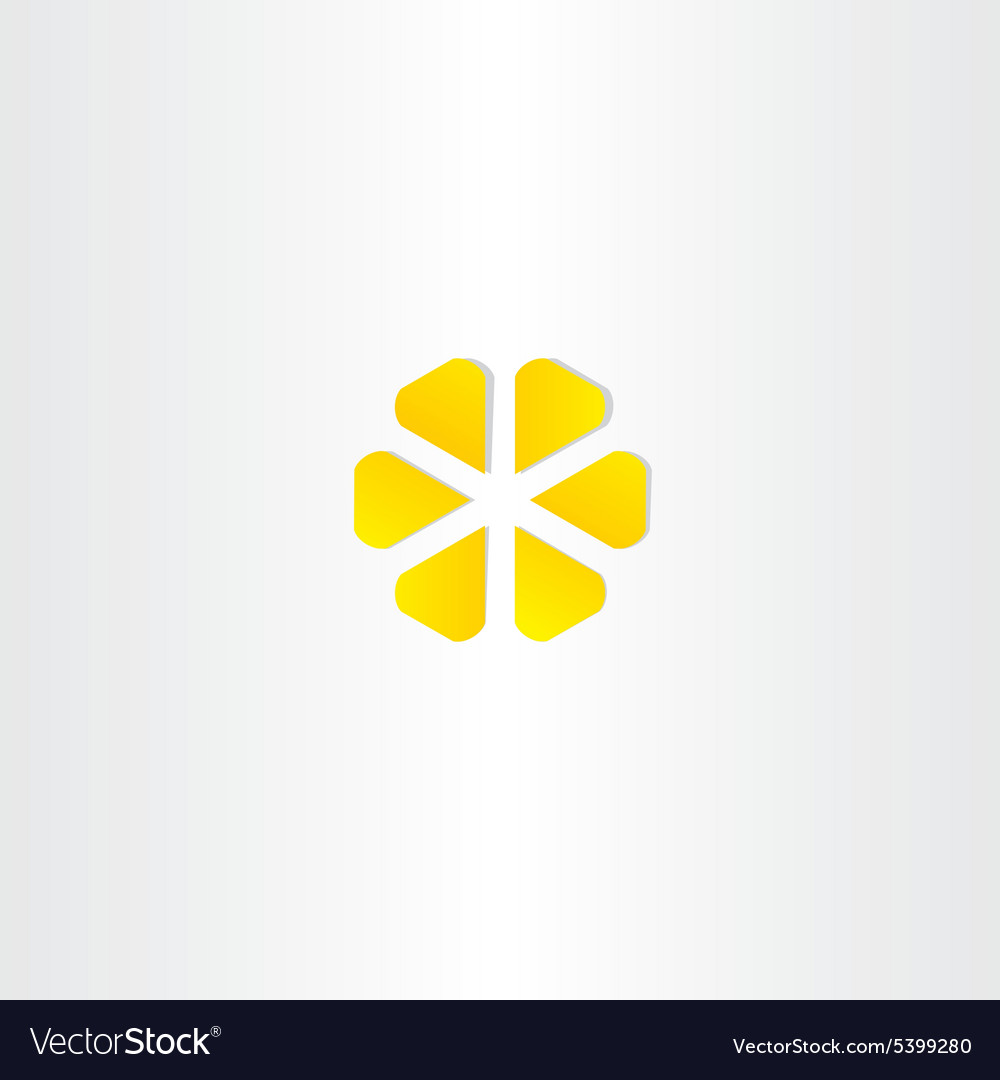 Abstract yellow business icon symbol design