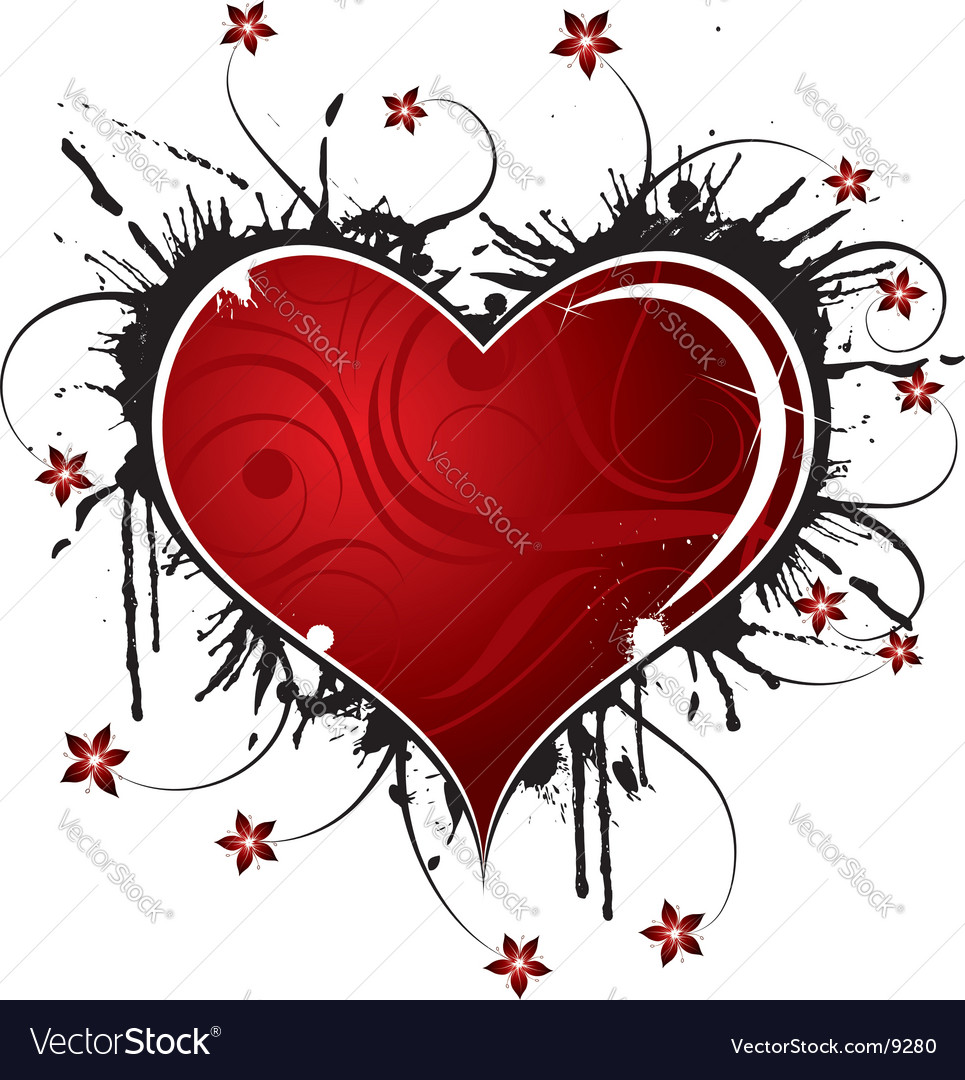 Background heart vector image