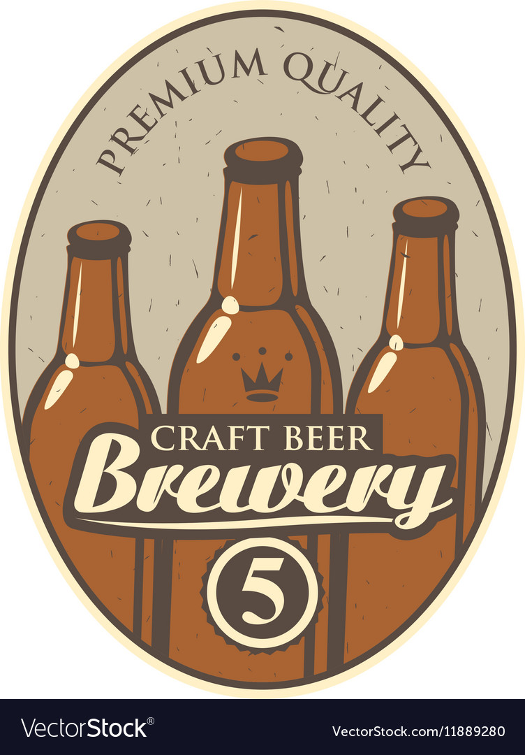 Beer label for brewery