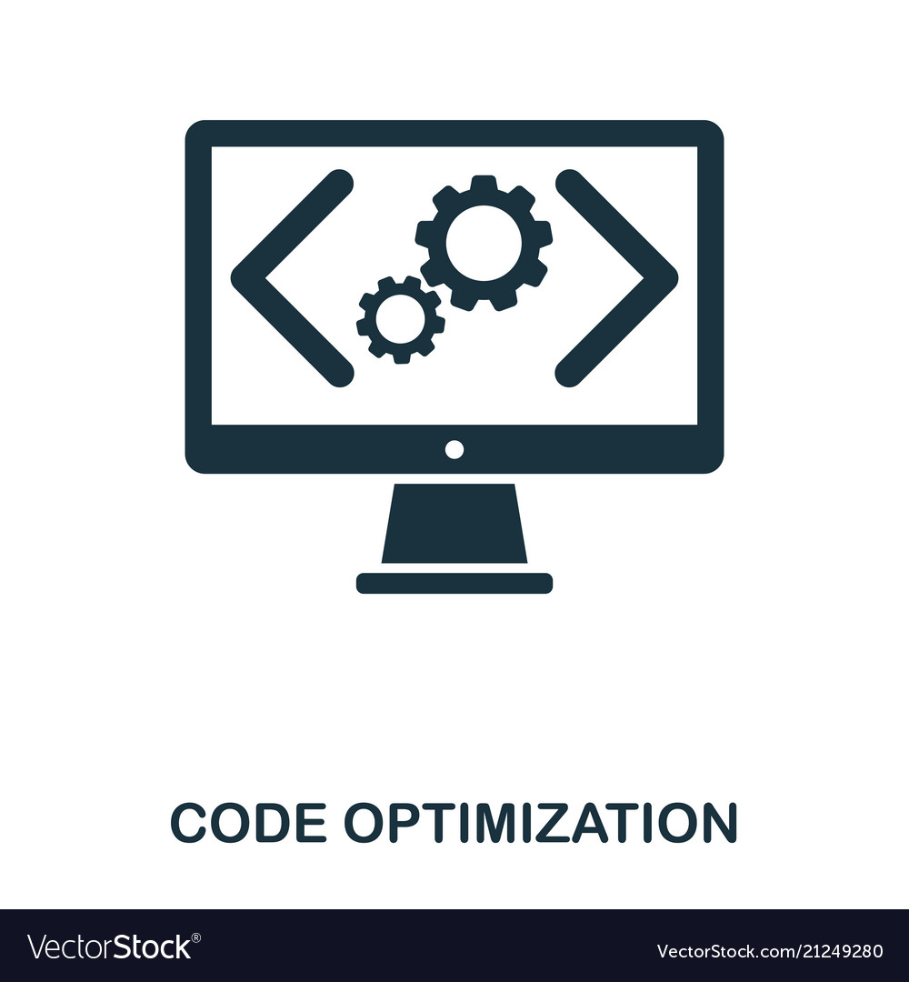Code optimization icon line style icon design ui