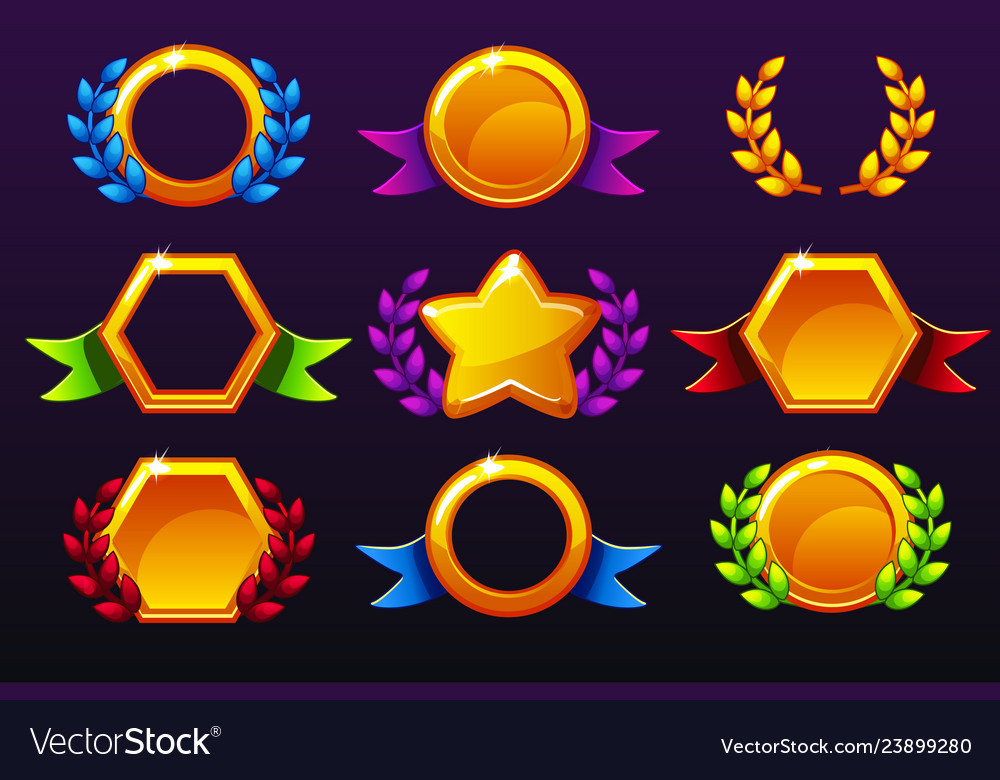 Coloured templates for awards creating icons