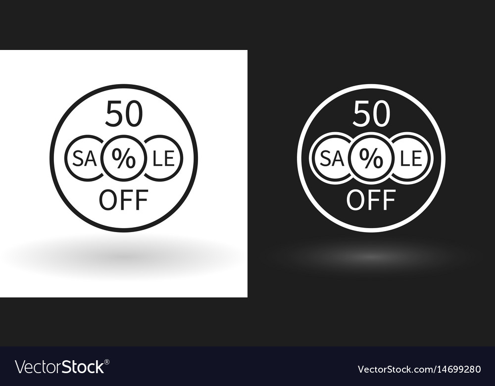Creative sale icon with the percentage discount vector image
