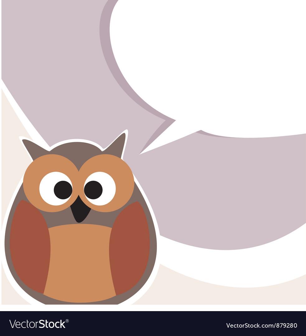 Funny cute talking owl