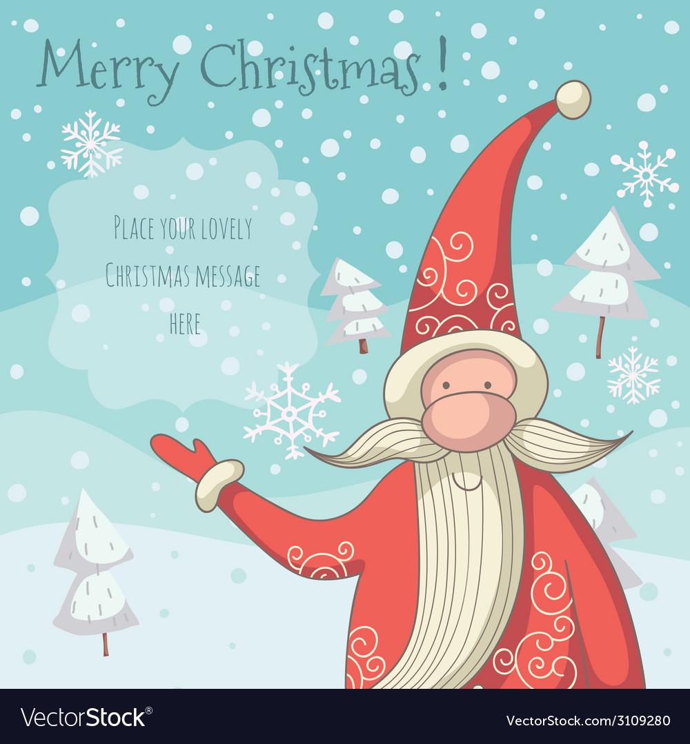 Santa Clause Greeting Card Royalty Free Vector Image