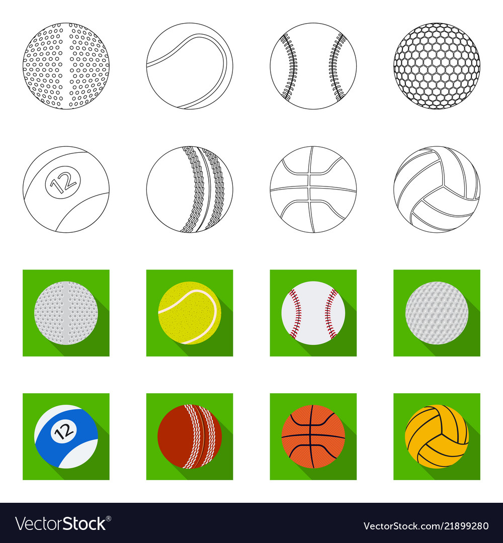 Sport and ball logo set of