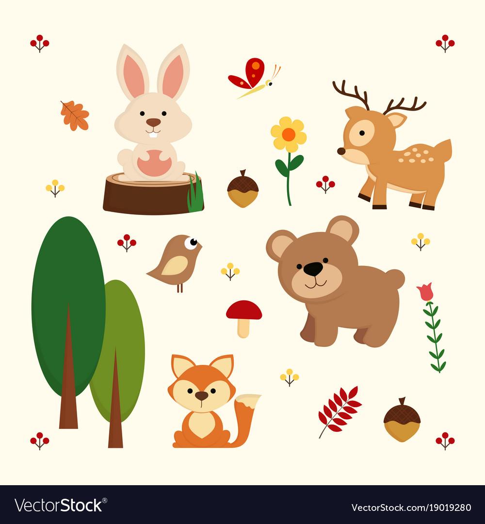 Woodland animal background