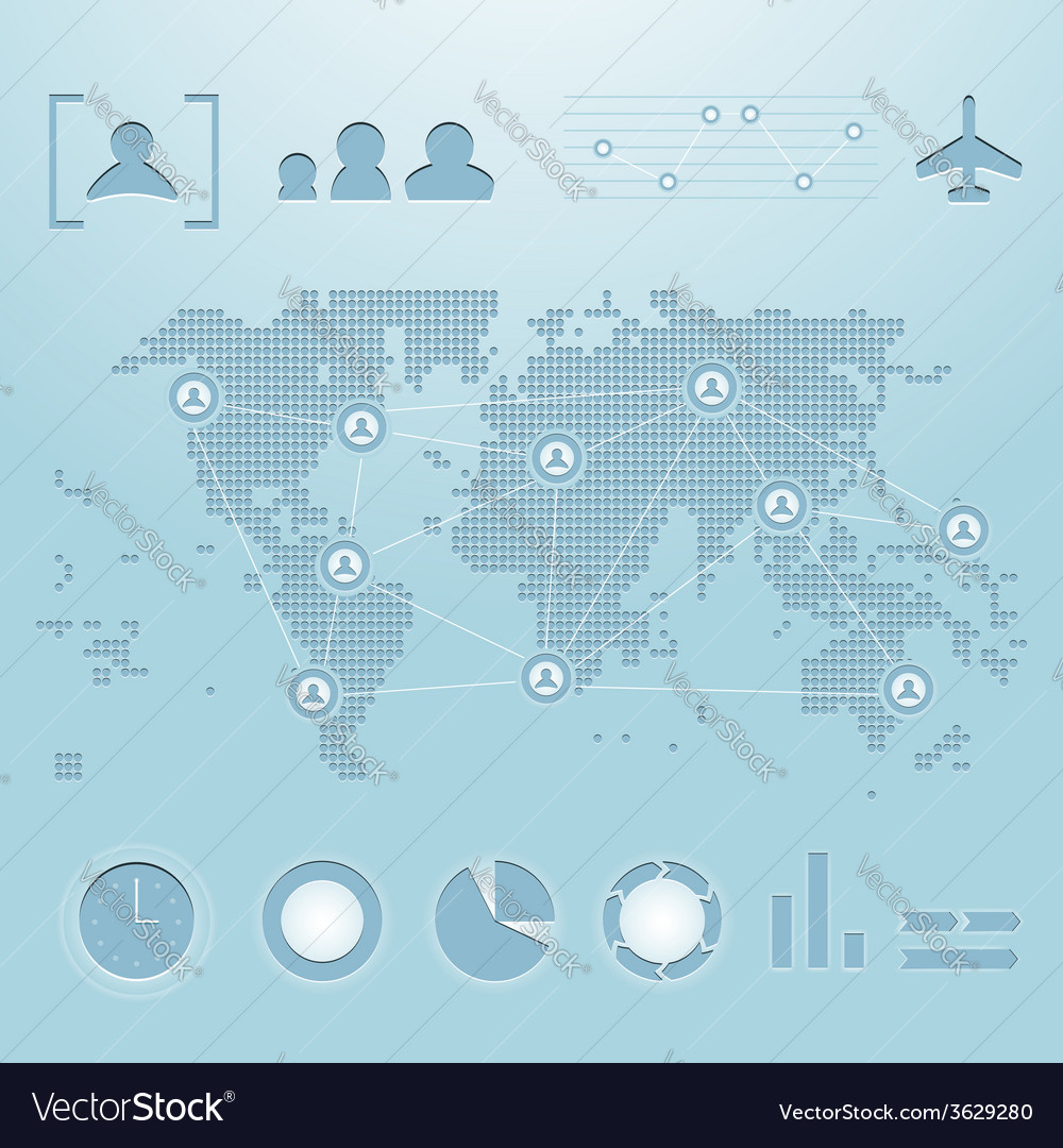 World map infographics vector image