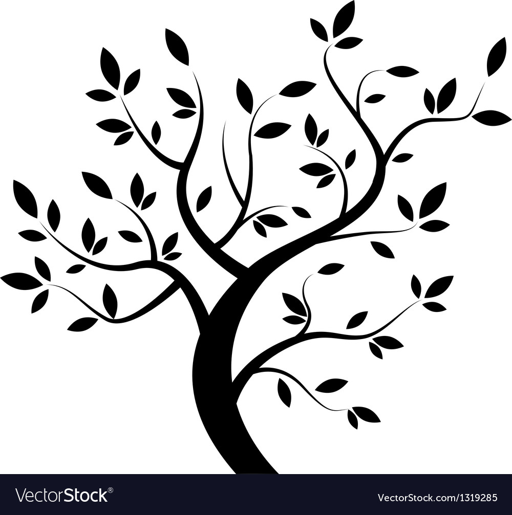 black tree royalty free vector image vectorstock rh vectorstock com vector tree silhouette vector tree silhouette