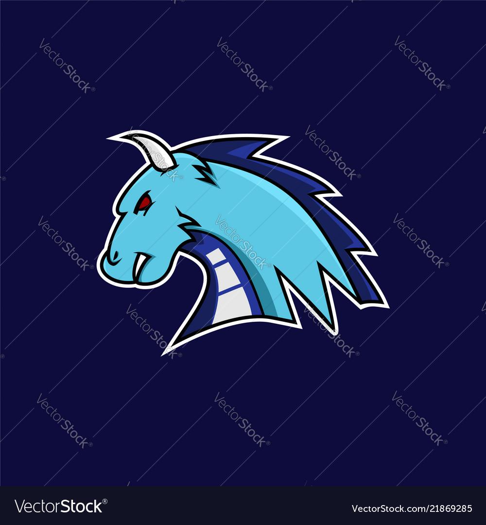 Blue dragon e-sports logo