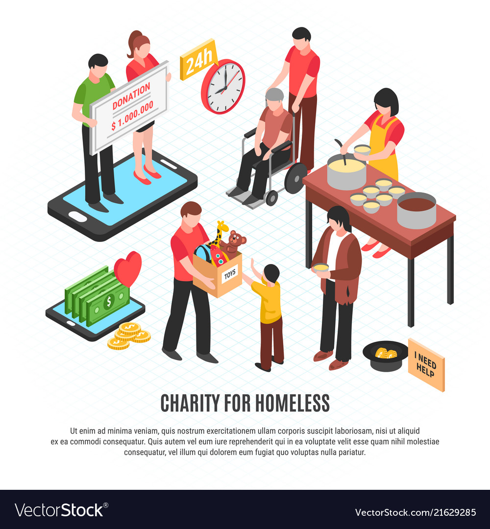 Charity for homeless design concept