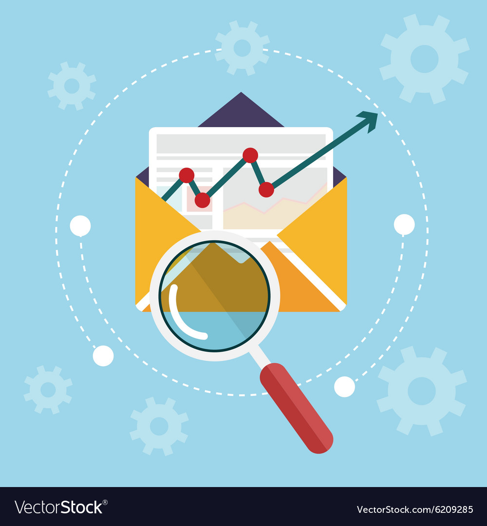 Flat design modern icons set of analytics search