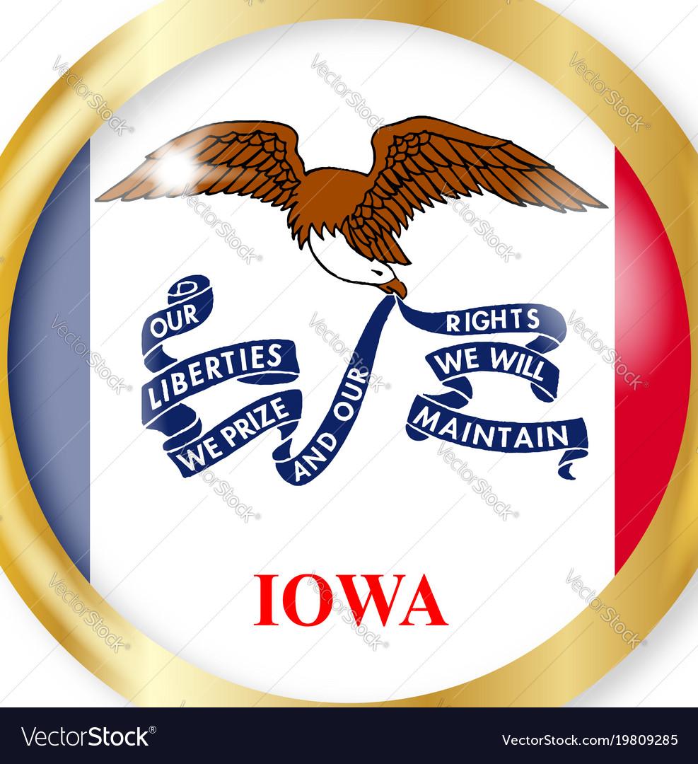 Iowa flag button