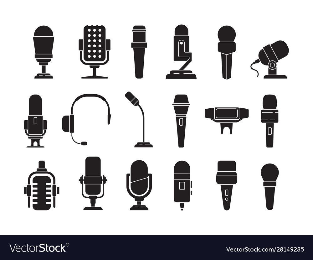 Microphone icon sound record studio music speech