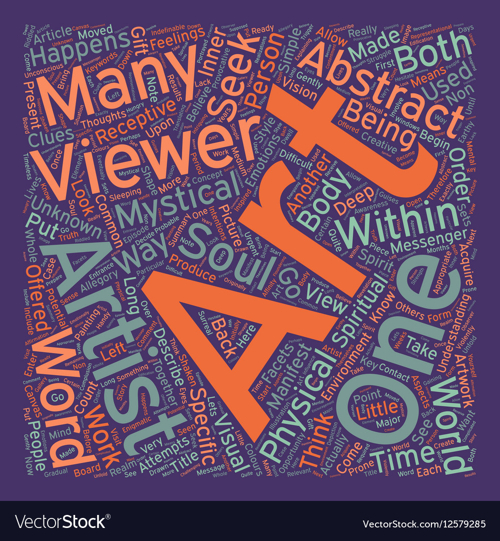 Mystical Abstract Art text background wordcloud vector image