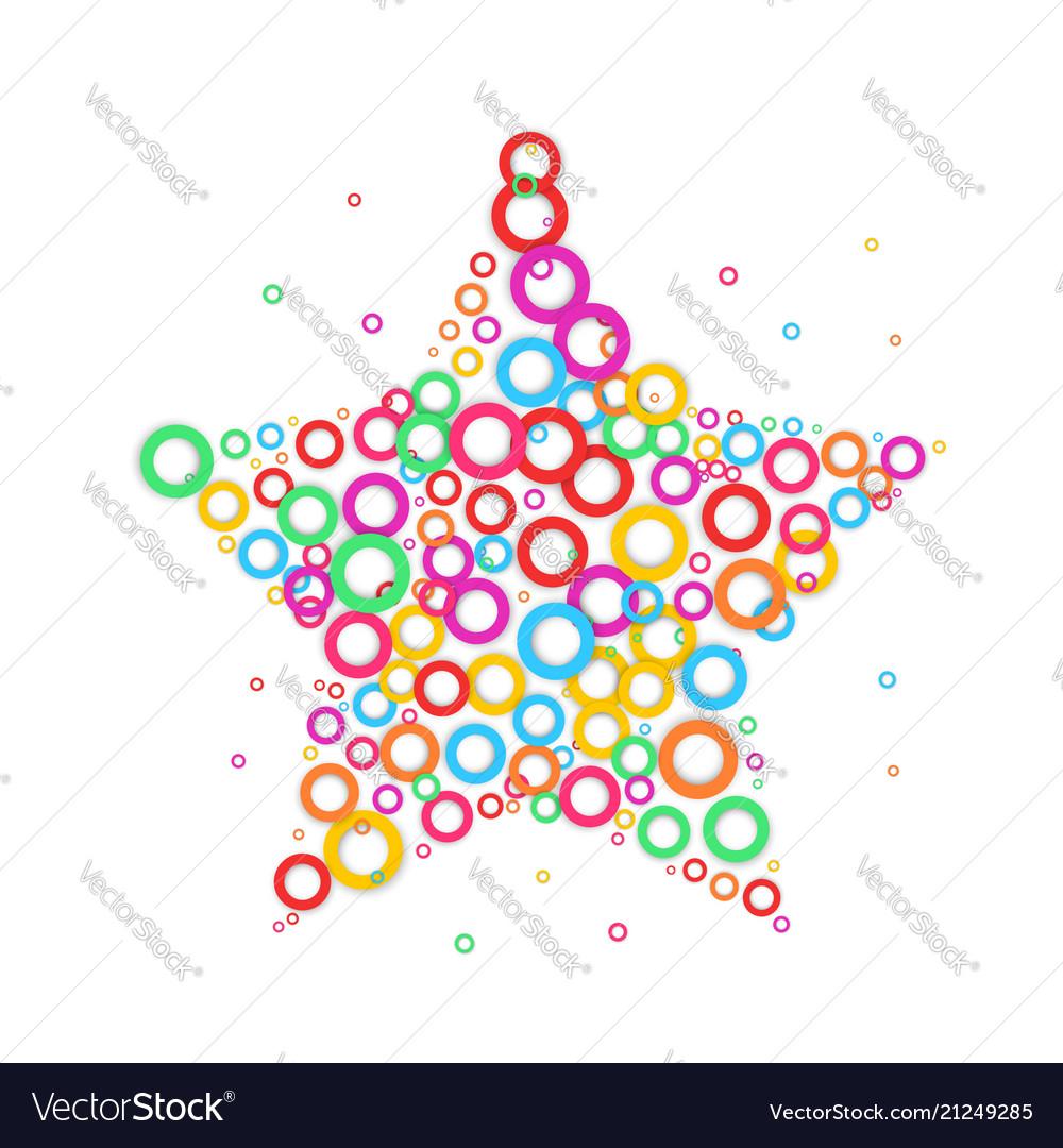 Star dot icon color dot