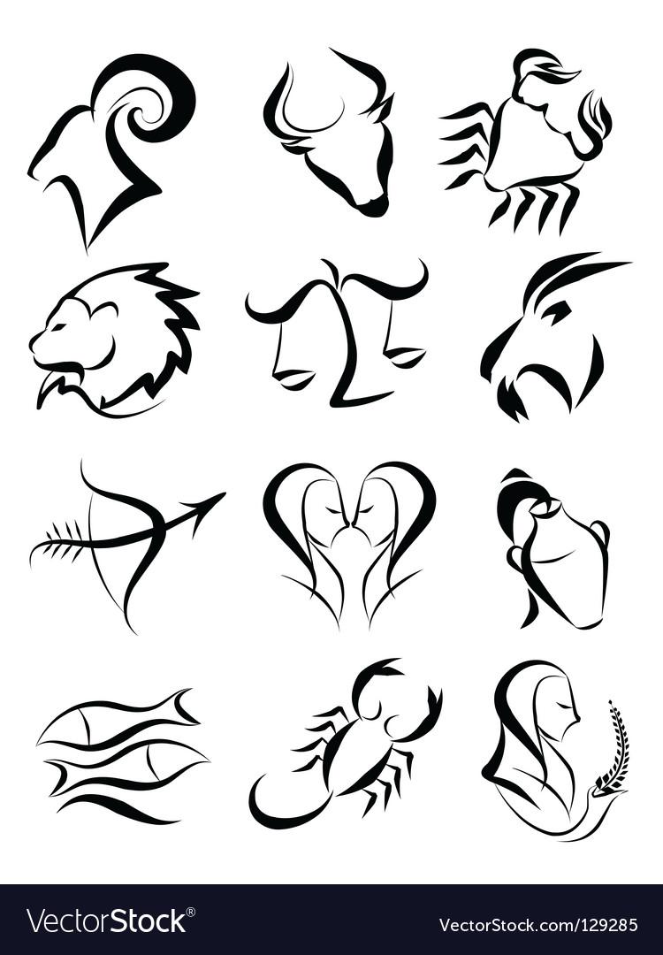 Zodiac star signs vector image