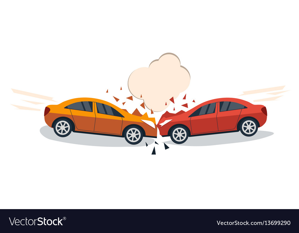 Car accident comic style