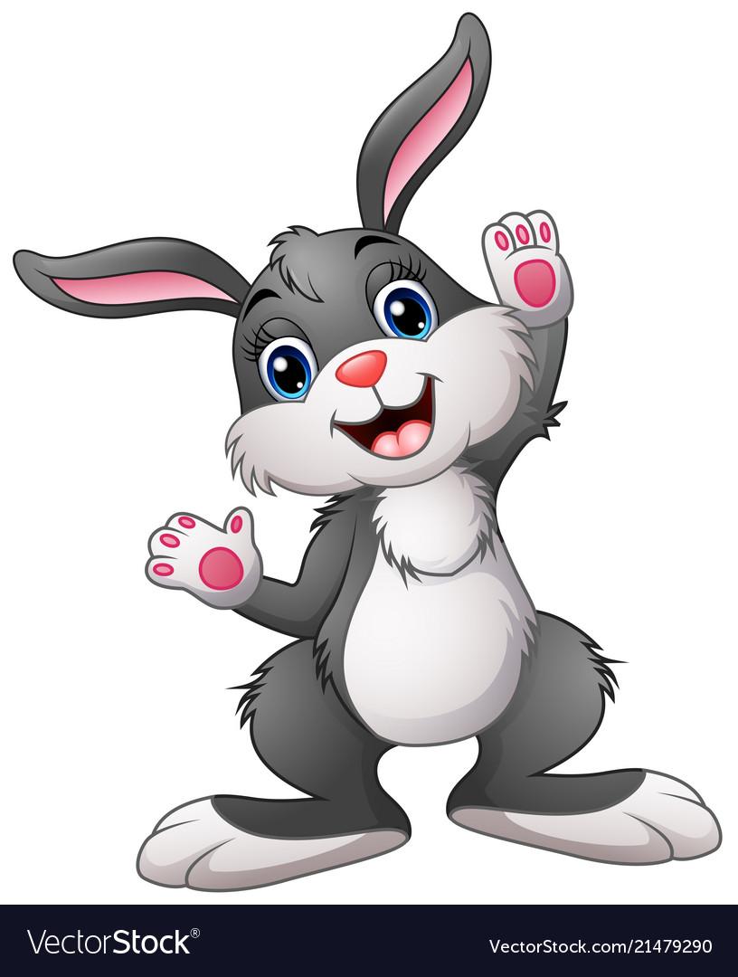 happy rabbit cartoon royalty free vector image