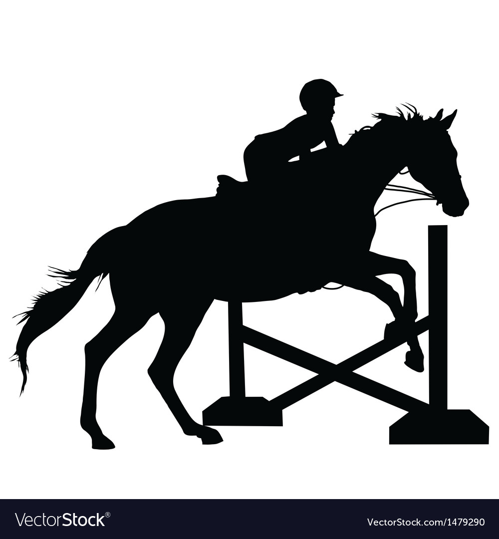 Horse Jumping Silhouette Royalty Free Vector Image