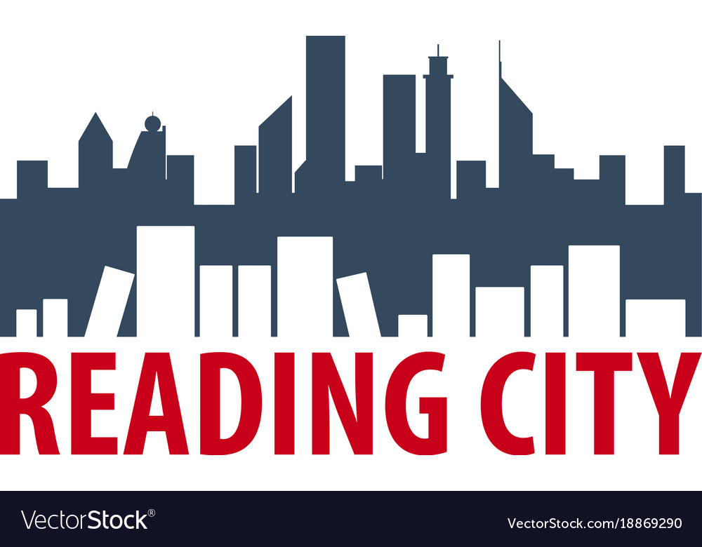 Reading city book store logo education and book