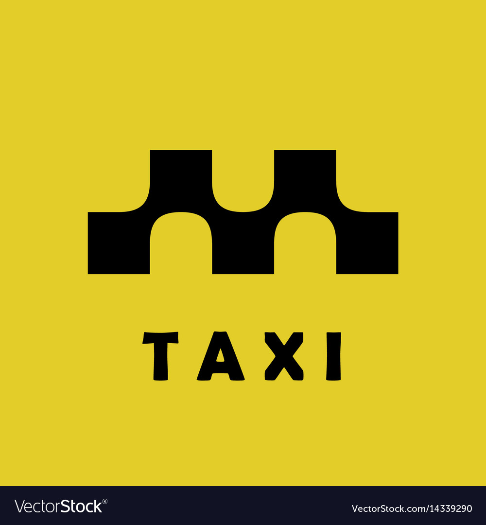 Taxi logo sign squares with smooth connections