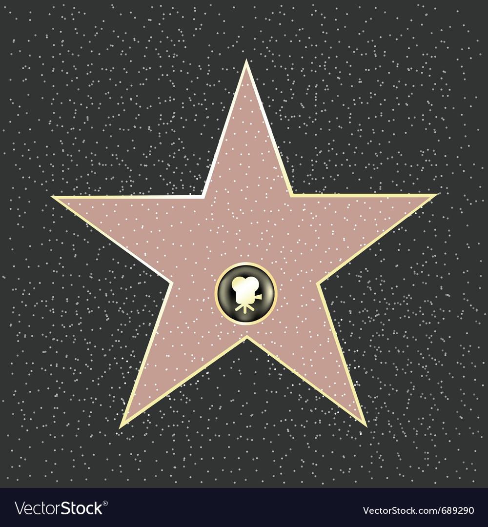 Walk of fame vector image