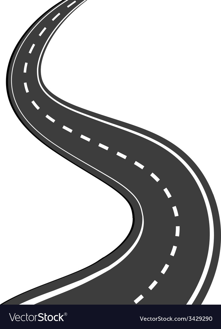 winding road royalty free vector image vectorstock silhouette vector clip art silhouette vector images
