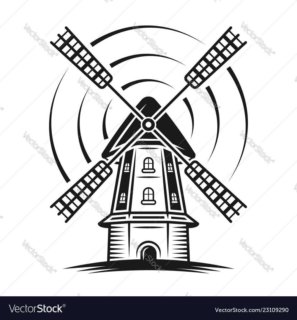 Windmill with rotation lines