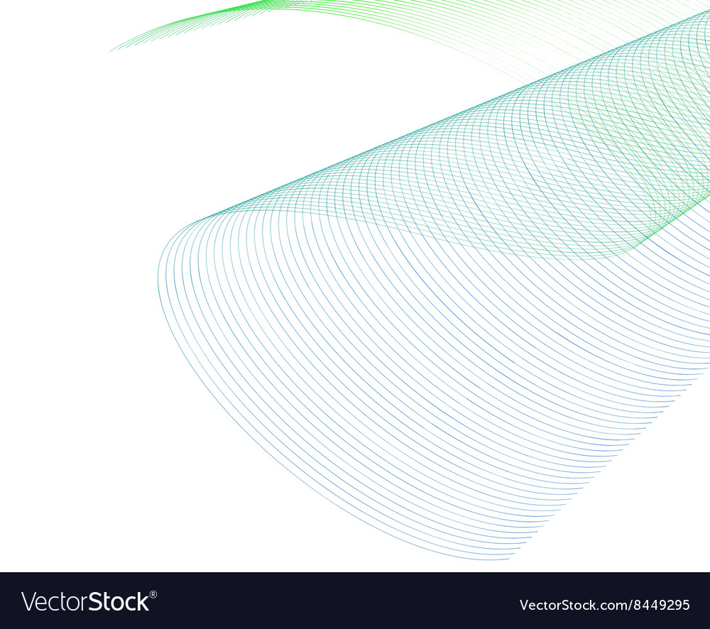 Abstract Wave Set on White Background
