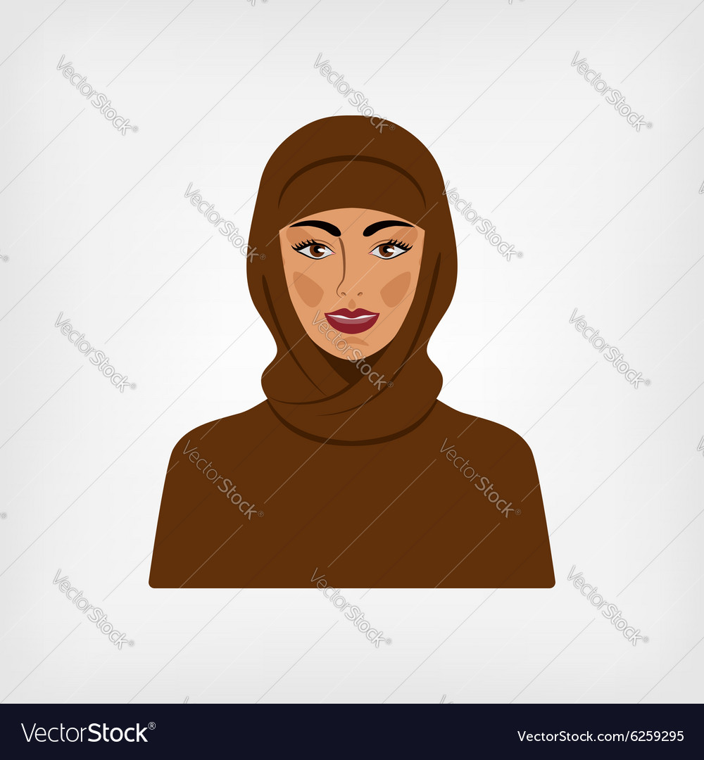 Arab woman in traditional clothes
