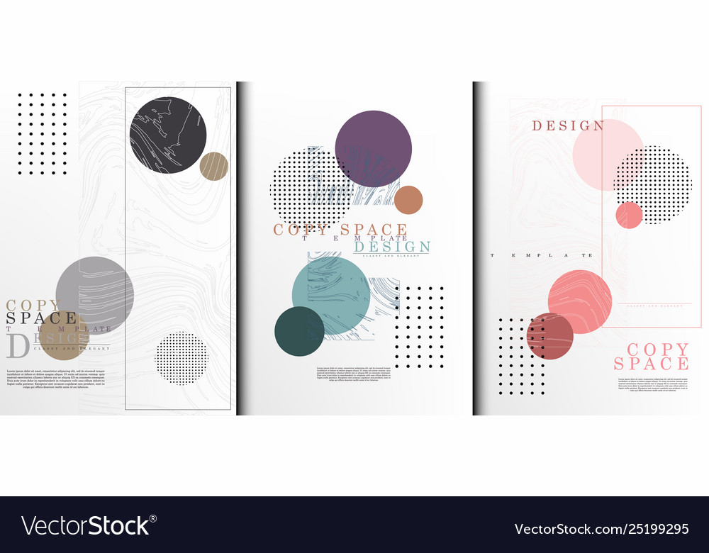 Copy space template abstract collection art