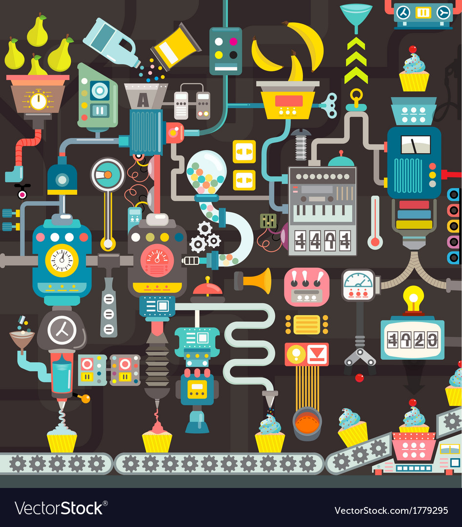 Factory seamless geometric infographics