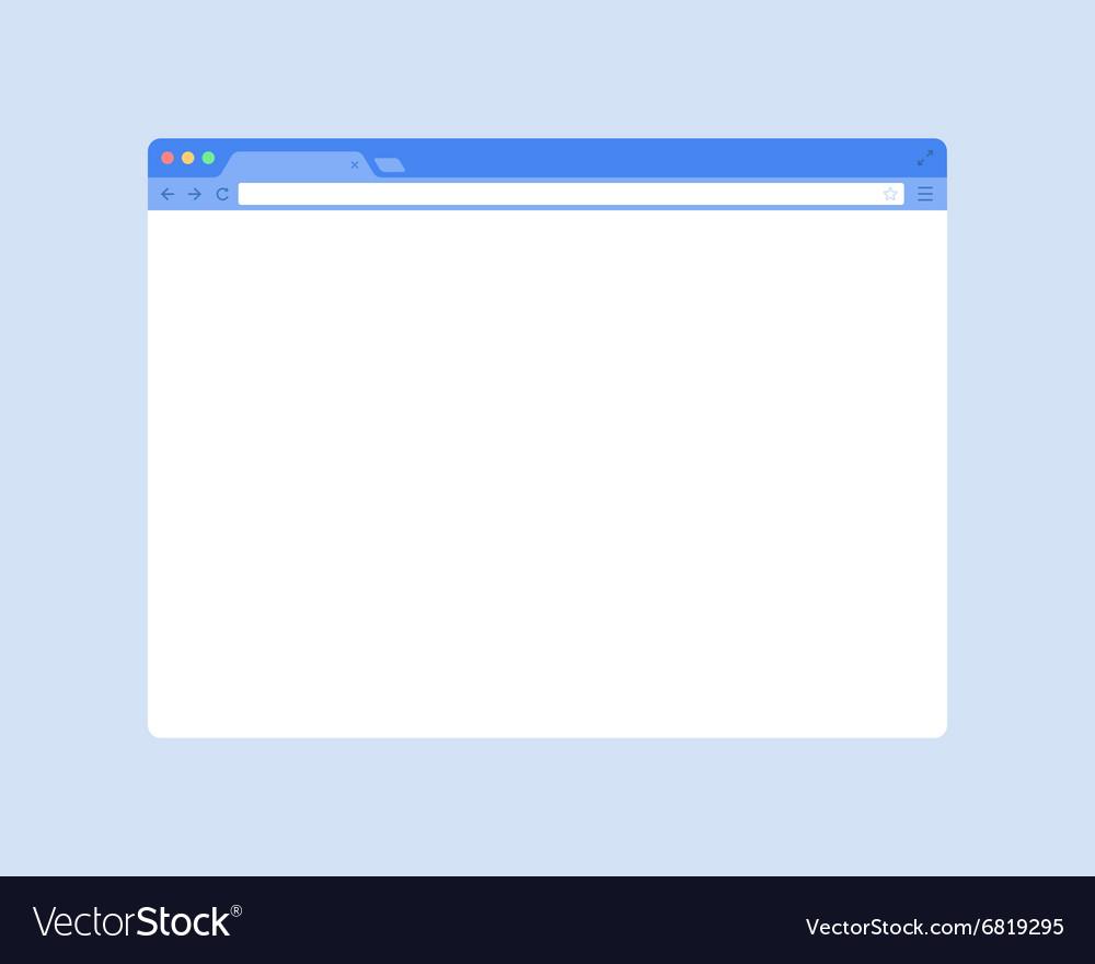 Flat Browser Window